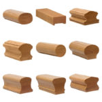 Wood handrail profiles for staircase