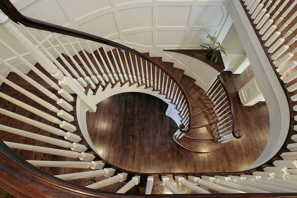 American Cherry Hardwood Stairs and Handrail