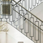 Stair Parts Project: Contemporary Staircase with Maple Stair Handrail and Rectangle Iron Balusters